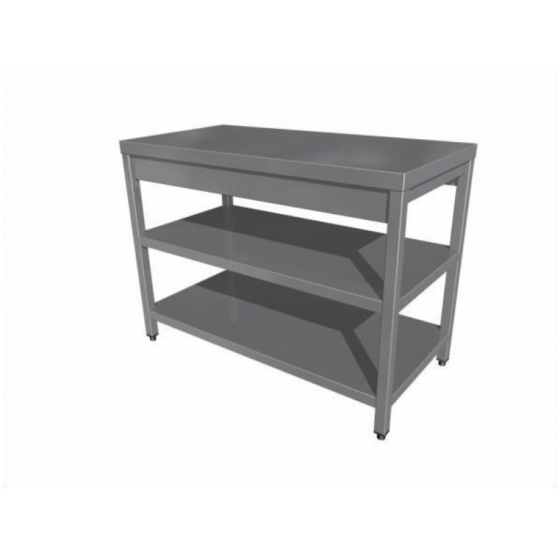 Eco work table with two shelf (without upstand)