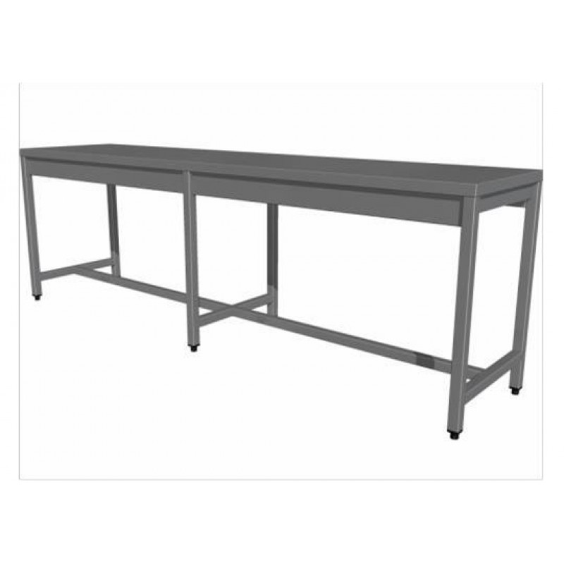 Central work table without shelf (6 legs)