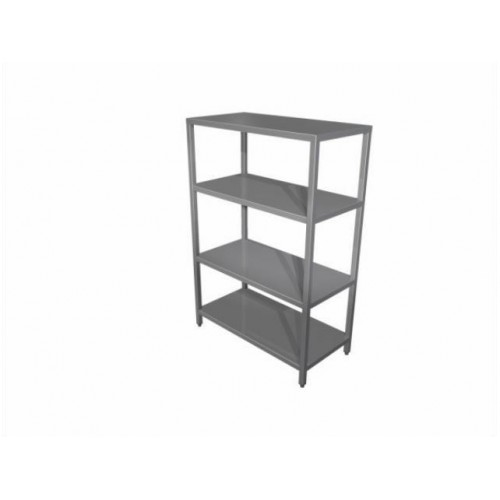 Shelving unit with fixed shelves
