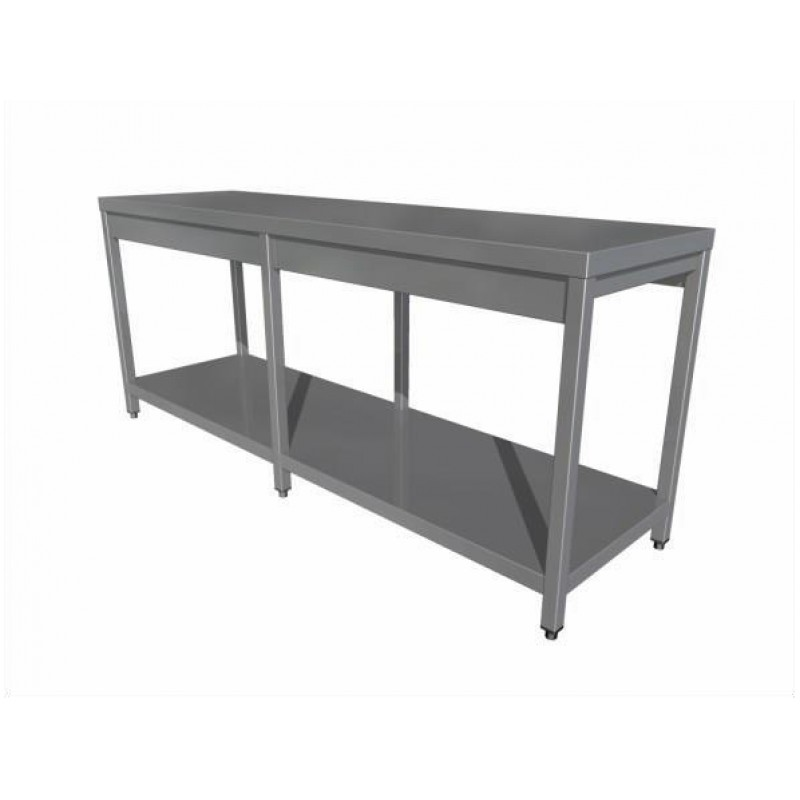 Work table with shelf (6 legs)
