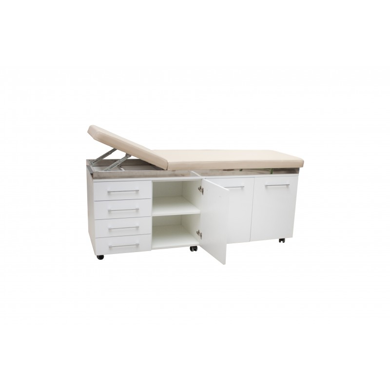 Examination table with built in furniture